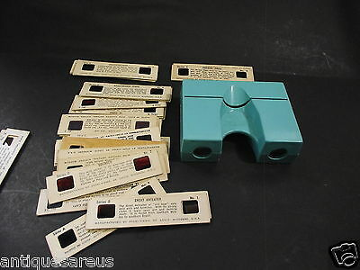 POST STEREO VIEWER WITH SLIDES TOUCAN, GREEN PEAFOWL WHALE HEADED STORK etc