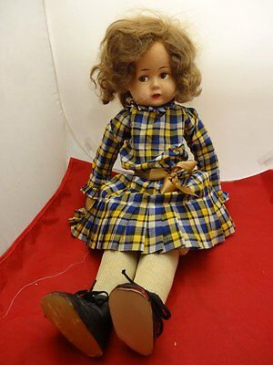 "23"" RARE German Bing Art  Bros. Doll c1920's, Cloth & Paper Mache Doll"
