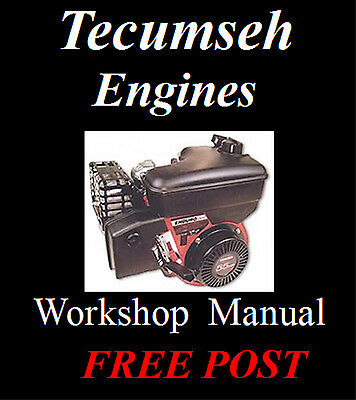 Tecumseh Engines Workshop Service Repair Manuals On Cd - The Best !!