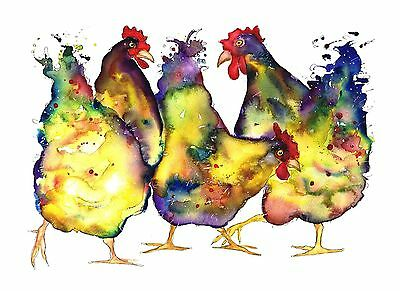 Buff Orpington A3 Print From Original Chicken Watercolour By Moonhares Art
