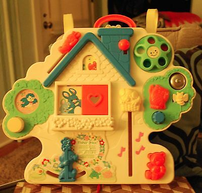 Fisher Price Vintage Musical Activity Center All Working 1985 Baby Crib Toy HTF