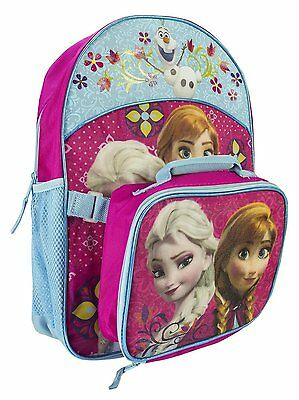 Disney Frozen Girl's Backpack with Detachable Lunchbox Set - NEW!