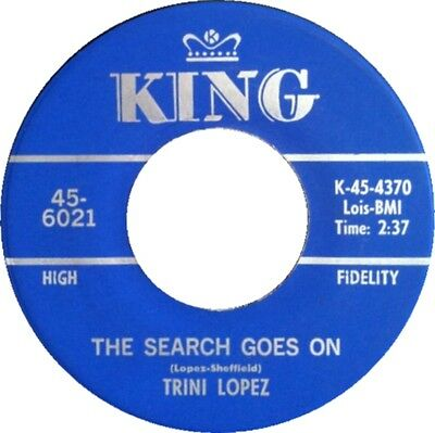 THE SEARCH GOES ON Trini Lopez *NORTHERN SOUL*