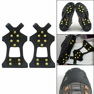 10Teeth/Nail Ice Snow Crampons Spike Anti-slip Shoe Cover for Climbing Fishing