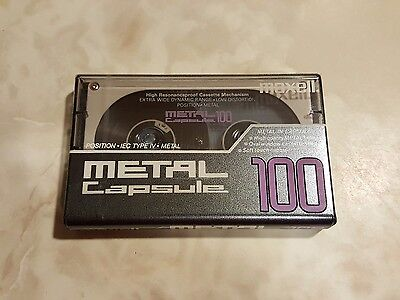 Maxell Metal Capsule 100 Minute Cassette Tape TYPE IV NOS SEALED