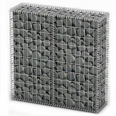 New Gabion Wall 4mm Strong Metal Gabions Basket Cage 100x100cm Galvanized Steel