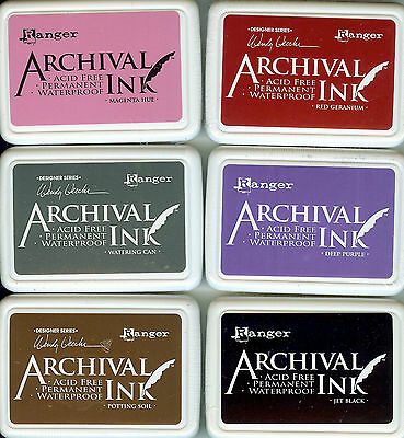 Ranger Archival Ink Various Colours Permanent, Waterproof, Crafting