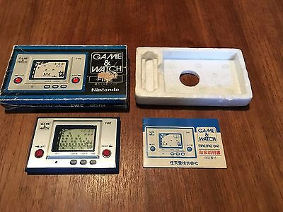 Fire - Nintendo Game and Watch -  Silver Screen & RC-04 G&W & Boxed complete!