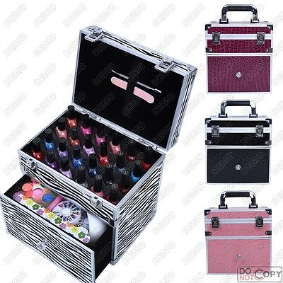 24 Nail Polish Compartment Varnish Bottle Beauty Cosmetic Makeup Vanity Case Box