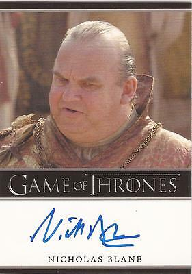 "Game of Thrones Season 2 - Nicholas Blane ""Spice King"" Autograph Card"