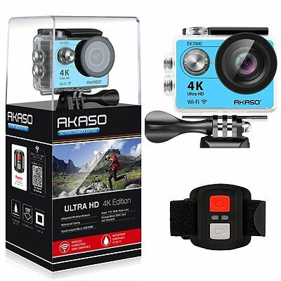 "2"" LCD SCREEN 4K WIFI Sports Action Camera Ultra HD Waterproof DV Camcorder 12MP"