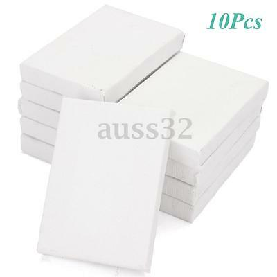 10pcs Mini Stretched Artists Canvas Small Art Board Acrylic Oil Paint 2 x 2.8""