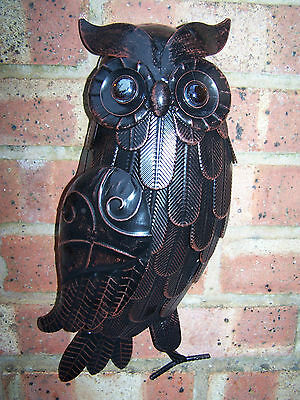 Owl 3D Metal Wall Art Indoor Outdoor Garden Home