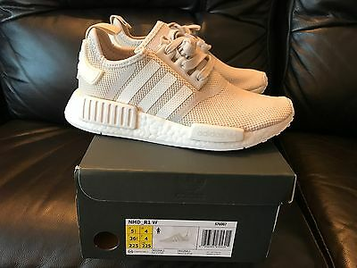 Adidas NMD R1 Monochrome Mesh Triple White Size 10 US Authentic
