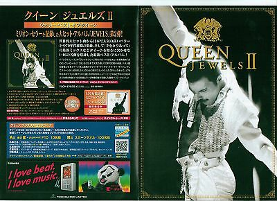 QUEEN Jewels II  fold out Japanese Flyer / mini Poster 8x6 inches