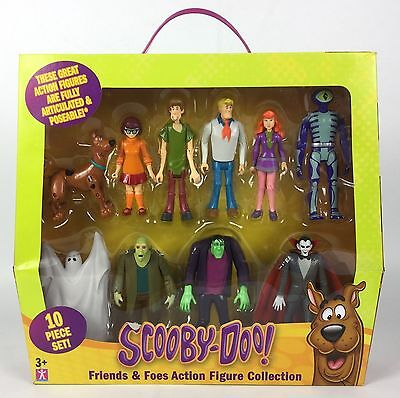 Scooby Doo Friends & Foes Action Figure 10 Piece Mega Pack -- New & Unopened