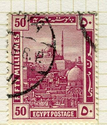 EGYPT;   1914 early Pictorial issue fine used  50m. value