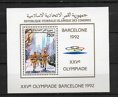 Comores : 1988 Olympic Games Barcelona 92 Minisheet ( MNH )