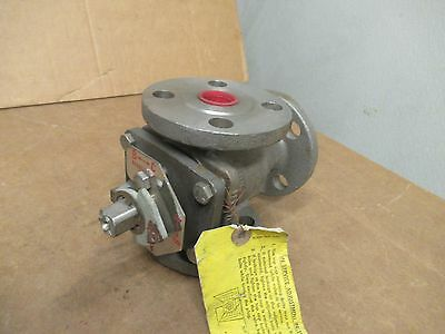 """Durco 3 Way Plug Valve 1"""" Mg411 150 Stainless S/s No Handle New"""