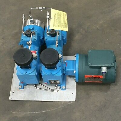 American Lewa Double Diaphragm Metering Pump with Reliance Electric ¾ HP Motor