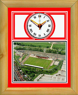Football Clock Doncaster Rovers Belle Vue Ground Aerial
