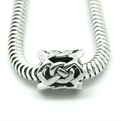 CELTIC KNOT spacer-Scottish-Irish- Solid 925 sterling silver European charm bead