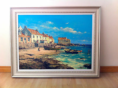 ALLAN NELSON Original oil painting 'Waiting for the tide' signed, authenticated