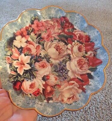 Franklin Mint Rhapsody Of Roses Collector Plate, Limited Edition (P)