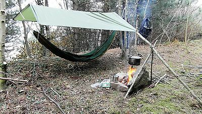 Camping Hammock With Stuff Sack Lightweight For Bushcraft Scouts DOE Survival