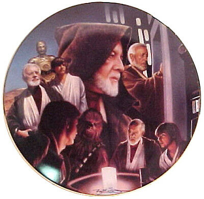 Vintage Star Wars Heroes & Villains Ceramic Collector Plate- Obi-Wan Montage