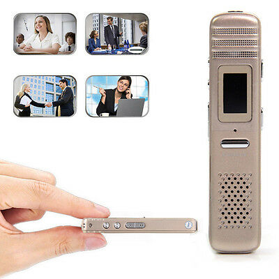 Rechargeable 8GB Digital Spy Hidden Voice Recorder Dictaphone MP3 Player Gold
