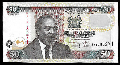 World Paper Money - Kenya 50 Shillings 2006  P41 @ Crisp AU-UNC