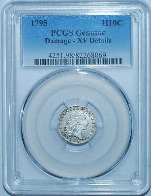 1795 PCGS XF Details H10C Flowing Hair Bust Half Dime
