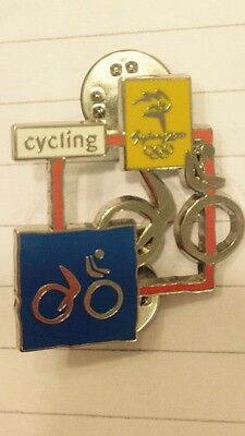 """!!REDUCED!! Sydney 2000 Olympics Cycle Pin Badge """"VERY RARE BADGE"""""""