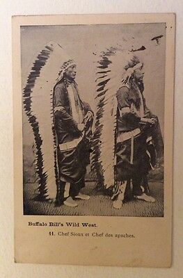 CPA. BUFFALO BILL'S WILD WEST. 1905. Chef Sioux et Chef des Apaches.