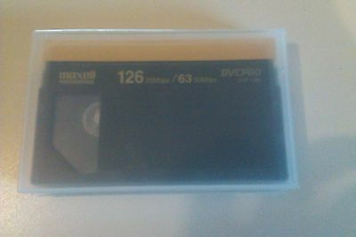 Maxell Professional Dvc Pro Dvp-126L - Large Format - Camcorder Tape - Used Once