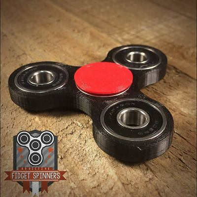 EDC Spinner Tri Bar Fidget Toy With Caps **ships out within 24 hours**