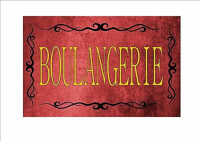 Vintage Boulangerie Sign Retro Style Sign Kitchen Sign French Shop Sign shop