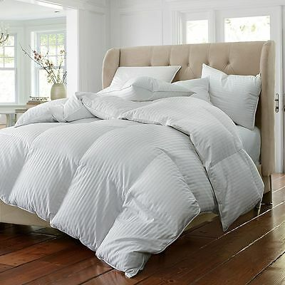 100% Pure Down Snow White Hungarian Goose Down Duvet Quilt - All Sizes 13.5 Tog