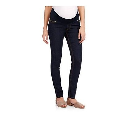 Oh! Mamma Demi-Panel Super Soft Skinny Maternity Jeans, Rinse, Large