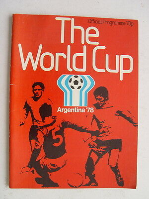 1978 World Cup in Argentina Official Programme