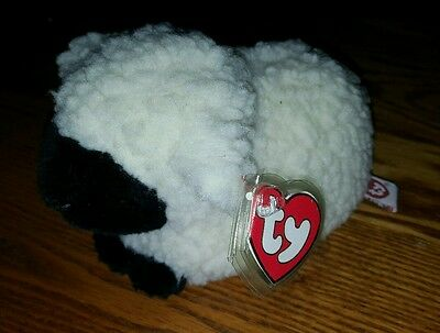 "Ty WOOLY Lamb Sheep Wool Easter Vintage (7"") Classic/Plush 1995 Boys Girls 3+ CT"