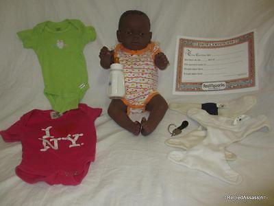 RealCare Baby Think It Over Doll G6 Gen 6 Black African Girl Female + Extras