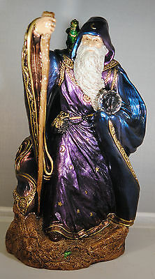 Windstone EdItions LARGE WIZARD - PEACOCK COLOR -  NEW IN BOX