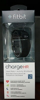 Brand New Sealed Fitbit Charge HR Activity Tracker with Heart Rate Black Large