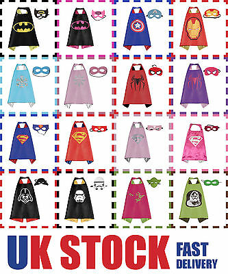 Superhero cape mask Batman Superman Captain America Frozen Supergirl party Darth