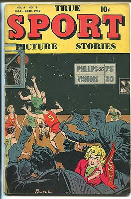 True Sport Picture Stories Vol. 4 #12 1949-Basketball-Bob Powell-last issue-VG