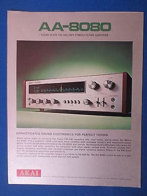 Akai Aa-8080 Receiver Sales Brochure Original Factory Issue The Real Thing