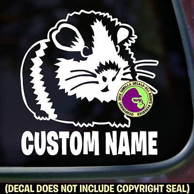 Guinea Pig #1 - ADD YOUR CUSTOM WORDS - Love Car Window Sign Vinyl Decal Sticker