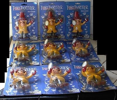 "INSPECTOR CLOUSEAU, (Pink Panther), 2002, Precious Kids, 9 New 6"" Rubber Figures"
